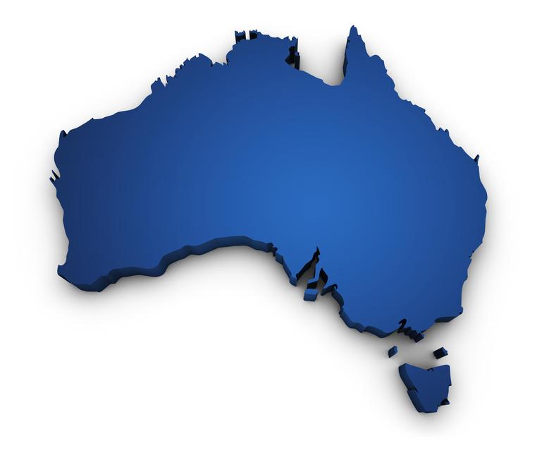 Australia Map Shape.Map Of Australia 3d Shape Sensitive Choice